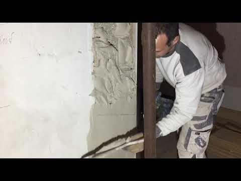 Gipsen Verputzen Wanddurchbruch Wande Begradigen Gips Ausbruche Youtube Wanddurchbruch Verputzen Sanierung
