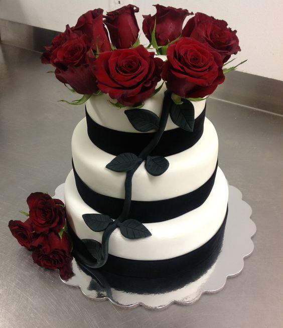 Rot Kuchen, Rockabilly-Hochzeit and Schwarz Und Weiß on Pinterest