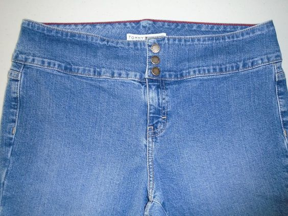 Tommy Hilfiger Women's Hipster Boot Cut Stretch Denim Jeans Size 10 ~ 32/30.5 #TommyHilfiger #BootCut