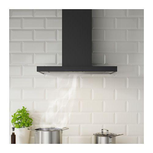 Matalskare Hotte Aspirante Murale Noir Ikea Kitchen Extractor Extractor Hood Ikea