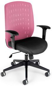 654-2709, Vision Series Executive Office Task Chair with Pink Mesh Cover: 654-2709 – OFM – Vista Stores
