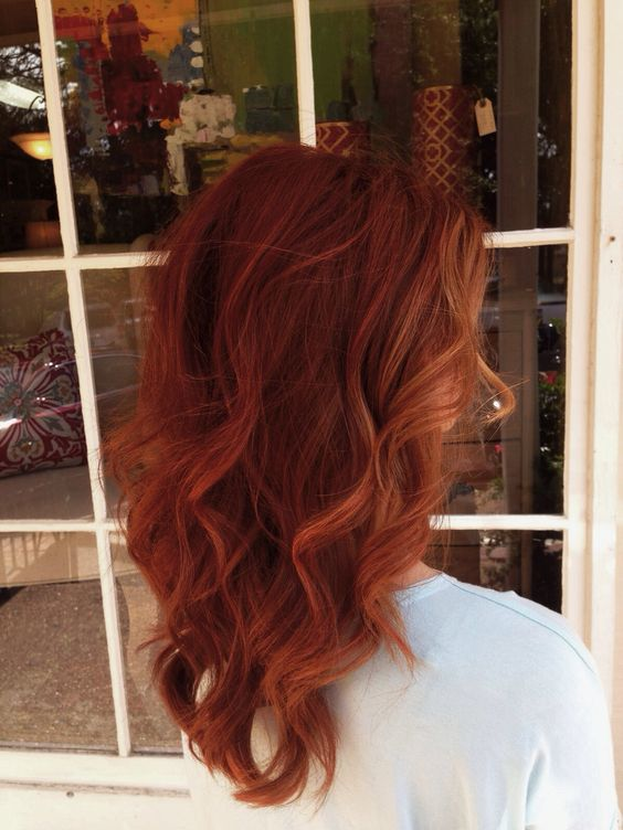 Auburn hair... just the name of that colour is so ...
