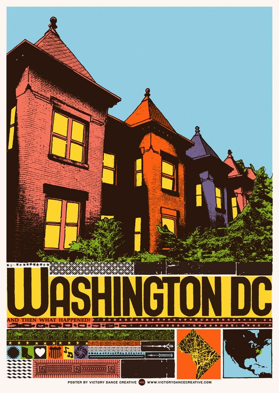 Washington, DC color hand-pulled screenprint poster