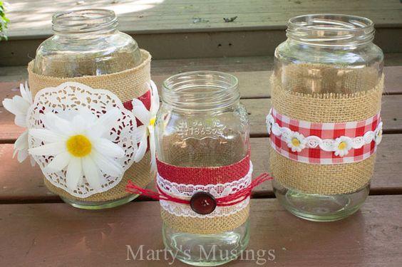 mason jar crafts | Thrifty Mason Jar Crafts and Google Hangout