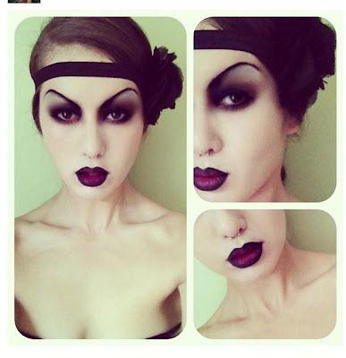 Makeupwithmarina: Gothic Flapper Tutorial