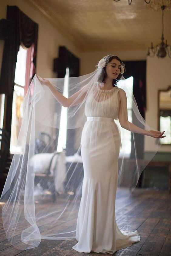 wedding hats and headpieces | Agnes Hart vintage inspired wedding veils, hats and headpieces. 'Petra ...
