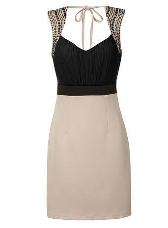Black and cream 2 in 1 dress - Robes - Voir toutes les soldes  - Soldes & offres