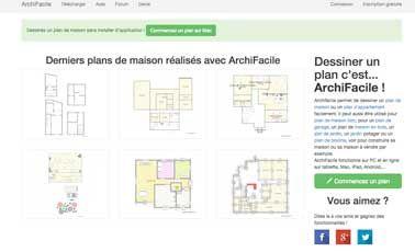 Logiciel plan maison gratuit et simple Archifacile