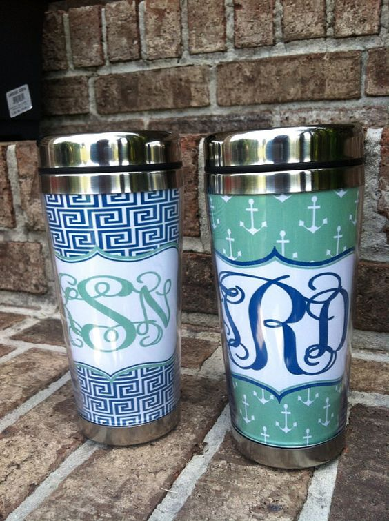 Personalized Stainless Steel Travel Mug Monogrammed Travel