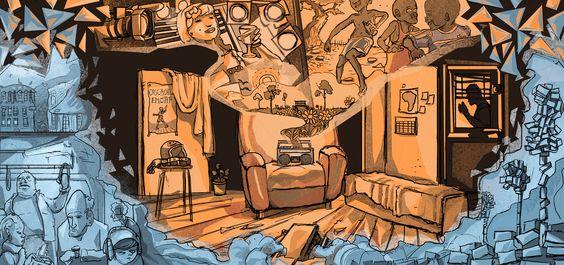 Illustration for a theatre by Yohan Monange