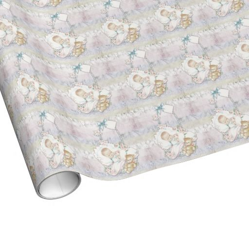 Vintage Pastel Baby Shower Wrapping Paper