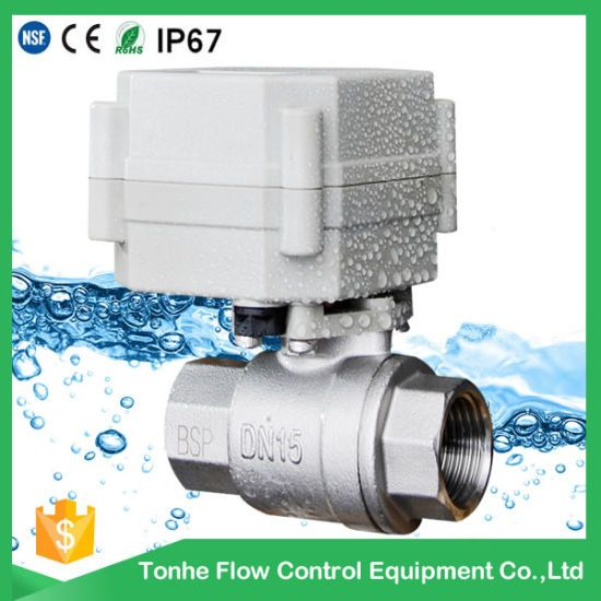 Hot Item 2 Way 1 Stainless Steel Motor Operated Motorized Water Ball Valve Approved Nsf61 Valve All Grain Brewing Water Valves