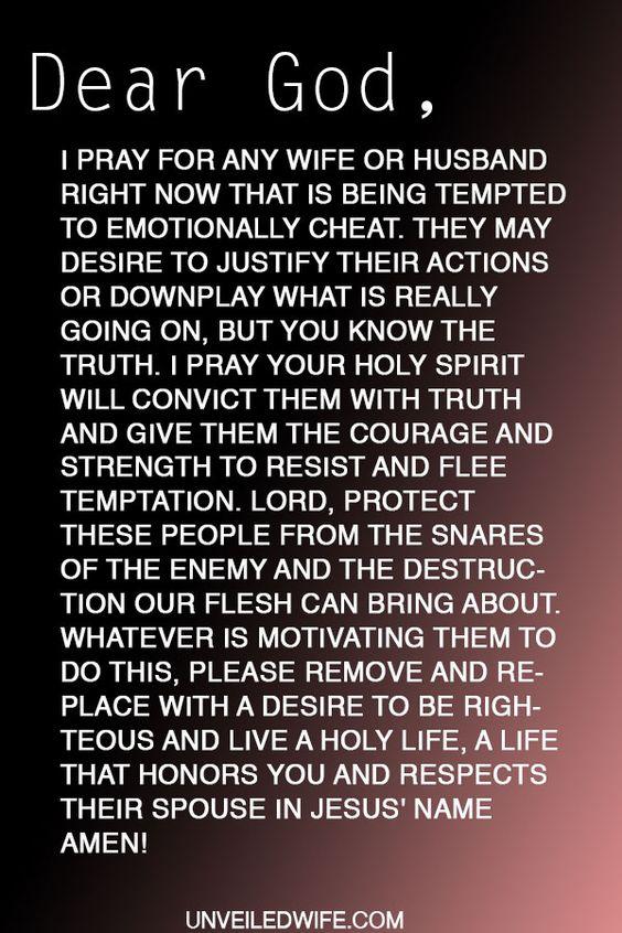 prayer emotionally cheating emotional cheating