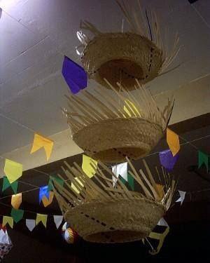 chapeus decorando....