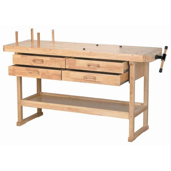 60 In 4 Drawer Hardwood Workbench Craft Tables Windsor