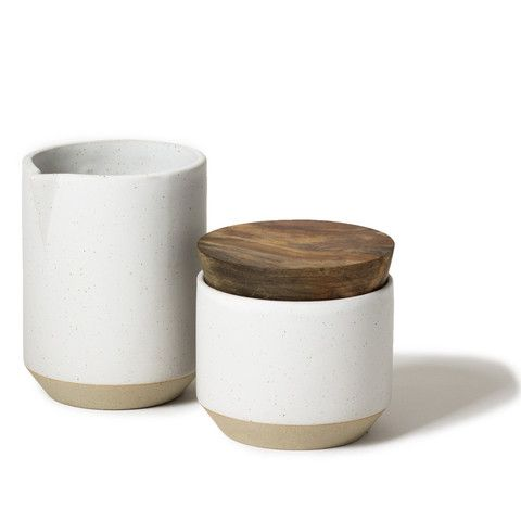 Ceramic Sugar & Creamer Set