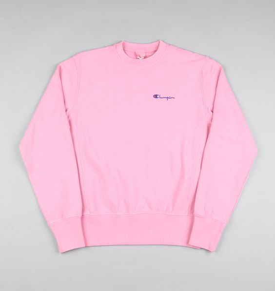 Champion Classic Reverse Weave Crewneck Sweatshirt - Pink | Photo ...