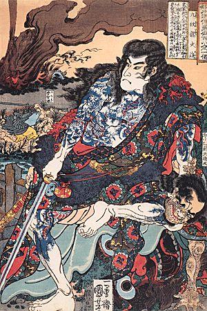 A character from Suikoden by Kuniyoshi Utagawa