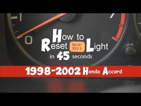 How To Turn Off Reset Maintenance Required Light In 45 Seconds 1998