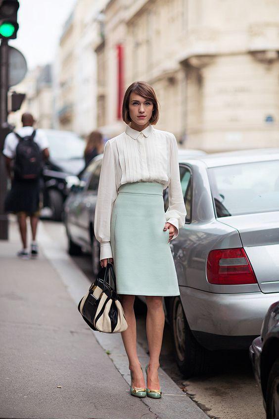 sleek aqua. #EllaCatliff in Paris. #LaPetiteAnglais