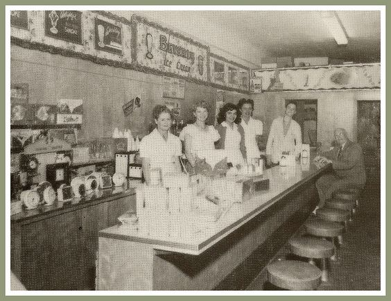 Stores had lunch counters (Woolworths)
