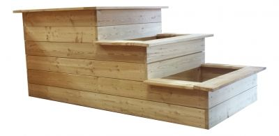 3 Stufen Hochbeet Aus Widerstandsfahigem Larchenholz Zur Selbstmontage Hochbeet Larchenholz Holz Shop