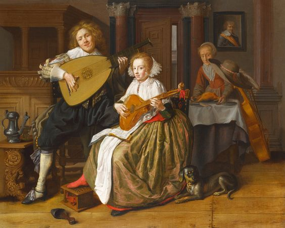 Jan Molenaer, «A Young Man and Woman making Music»