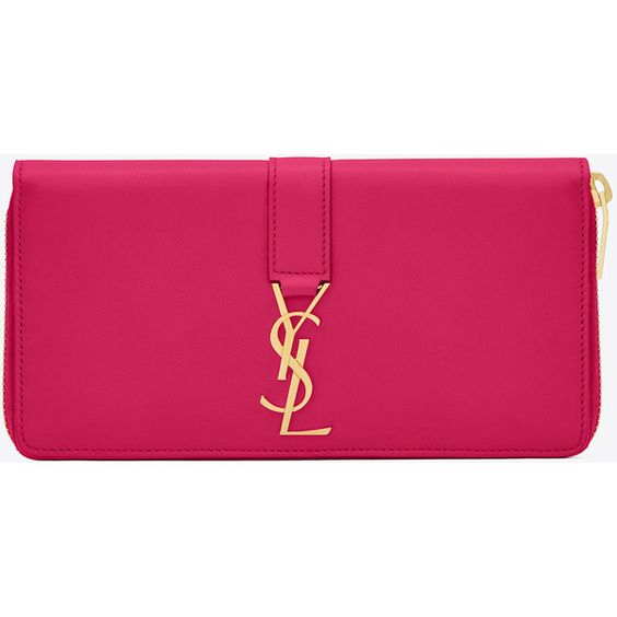 Saint Laurent Ysl Zip Around Wallet (850 AUD) ? liked on Polyvore ...