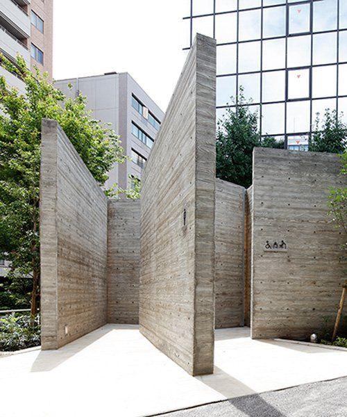 Wonderwall S Tokyo Toilet Comprises 15 Interlocking Concrete Walls In 2020 Architecture Concrete Wall Public Restroom Design