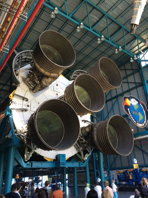Saturn V engines capable of 7.5 Million pounds of thrust. The most powerful rocket ever made ...