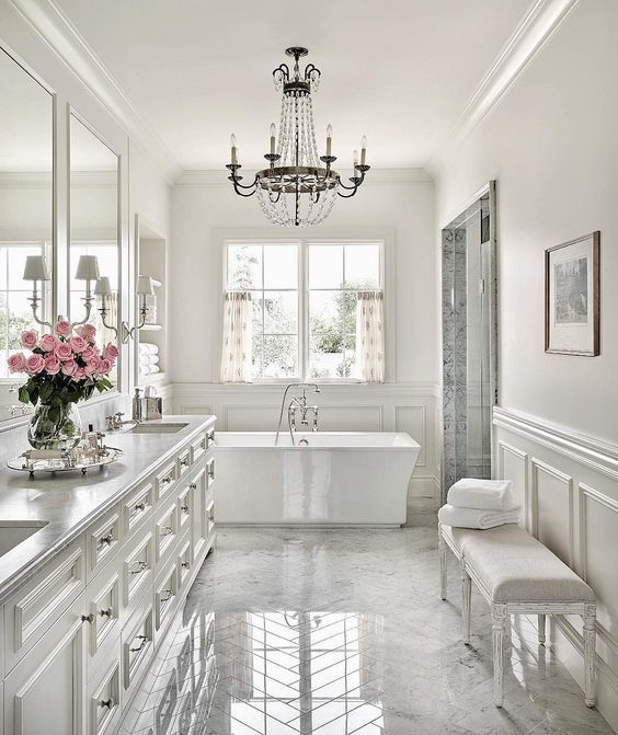 Master Bathroom Inspiration The Beauty Of White Marble Tile Dream Bathrooms Beautiful Bathrooms Home