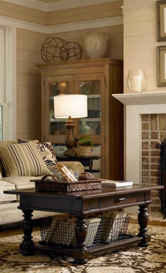 Fireplaces Living rooms and Tables on Pinterest