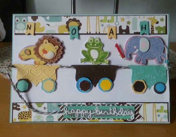 Geburtstagskarte für meinen 1 jährigen Enkel!