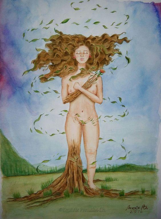Mujer árbol , tree woman , raíz,