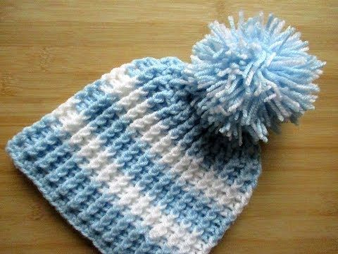 Crochet Baby Beanie Hat Toddler 12 24 Months 16 18 Tutorial Happy Crochet Club Youtube Crochet Baby Beanie Crochet Baby Hats Baby Socks Knitting Pattern