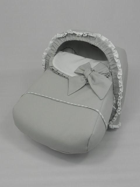 b e b e t e c a: GRUPO 0 CONCORD NEO ELEGANTE Saco y capota en piqués blanco y gris. bebetecavigo