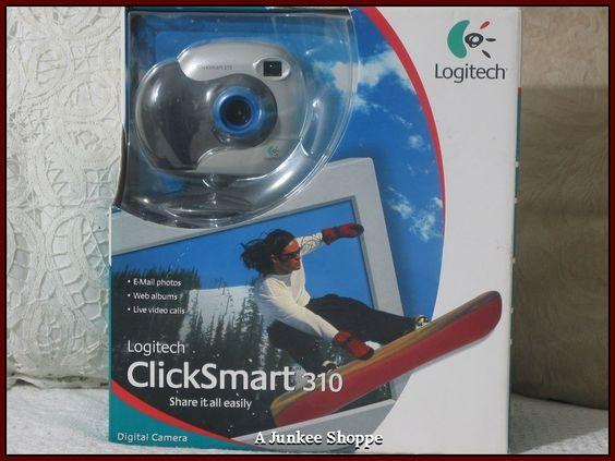 LOGITECH CLICKSMART 310 Digital Computer Camera 2001 Unused In Original Box  IMG 0127 http://ajunkeeshoppe.blogspot.com/