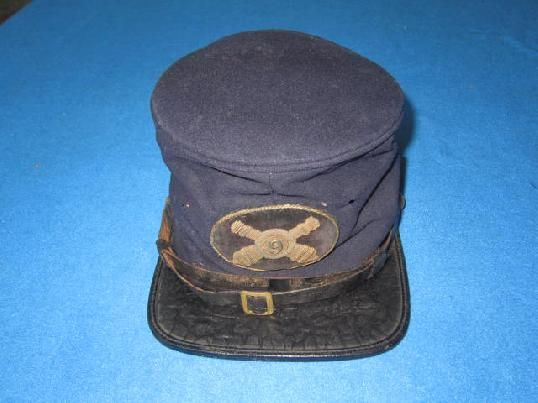 EARLY U.S. CIVIL WAR OFFICERS FORAGE CAP IDENTIFIED TO THE 9TH ARTILLERY IN EXCELLENT CONDITION! - Accoutrements and Smalls - Vin Caponi Historic Antiques