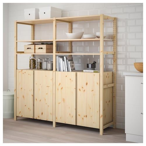 Ivar 2 Section Shelving Unit With Chest Pine 68 1 2x19 5 8x89 Nel 2020 Idee Scaffale Ikea Scaffali Soggiorno