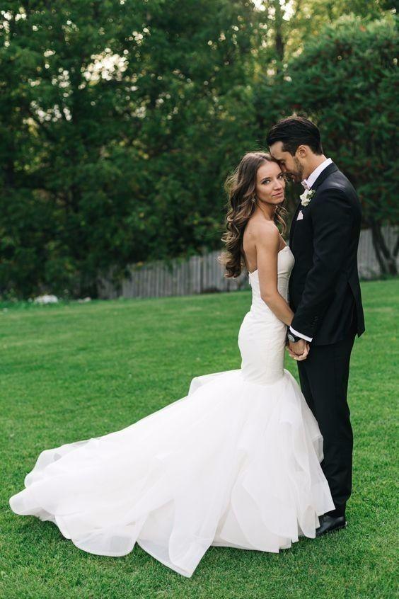 Robe de mariée sirène longue