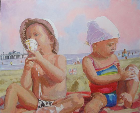 "Saatchi Online Artist: Heather Tamplin; Acrylic, 2009, Painting ""Little Britain"""