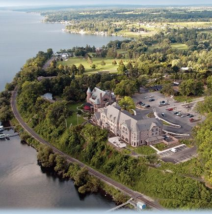 Belhurst Castle on Seneca Lake in Geneva has its own winery. For more information about this location, visit http://www.belhurst.com/