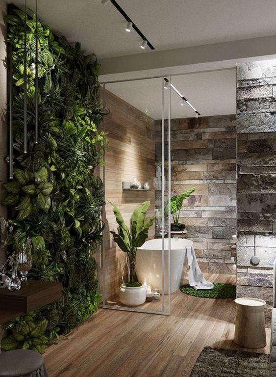 20 moderne hoofdbadkamers die verbonden zijn met de natuur Huisontwerp en ... #badkamer #die #hoofdbadkamers #Huisontwerp