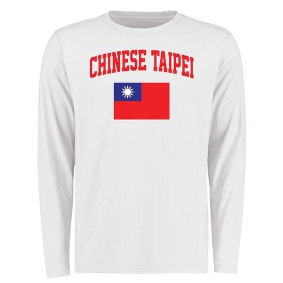 Chinese Taipei Flag Long Sleeve T Shirt White Chinesetaipeiflag T Shirt Long Sleeve Tshirt Men Shirts