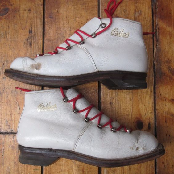 #Cross #country ski #skiing vintage white leather shoes boots pallas euro 38 uk 5,  View more on the LINK: http://www.zeppy.io/product/gb/2/182410741243/