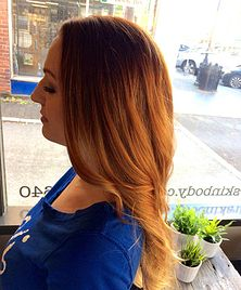 copper red ombre. #brookewithinbeauty