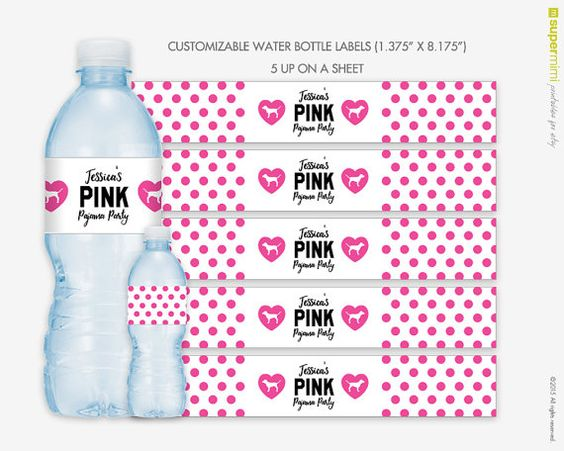 Decorating Ideas > Victorias Secret Themed Pink Polka Dots Water By  ~ 192958_Birthday Party Ideas Victoria Bc