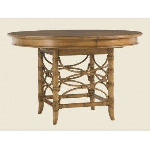 """Tommy Bahama Home Coconut Grove Dining Table 48"""" round - 66"""" with leaf."""