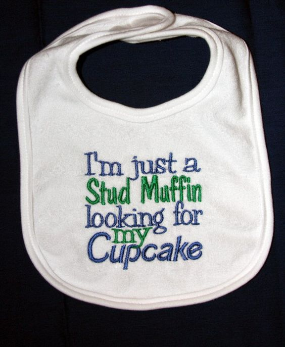 I'm just a Cupcake looking for my Stud Muffin Buying for Jacobs baby!!!: Awww Hahah, My Boys, Az Grandkids, Baby Bibs, Stud Muffin, Baby Boy, Little Boys, Baby Stuff