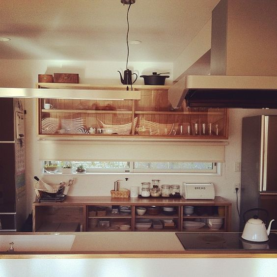 wooden hanging cabinets